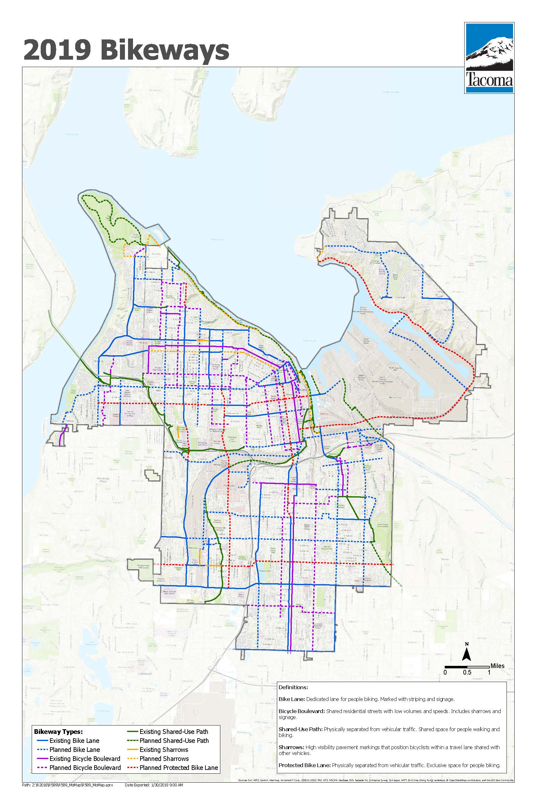 2019 Bikeways Map