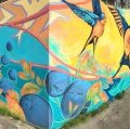 Larchmont neighborhood mural