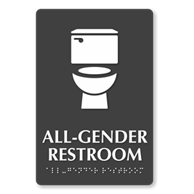 Photo of All-Gender Restroom Sign