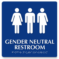 Photo of Gender Neutral Restroom Sign