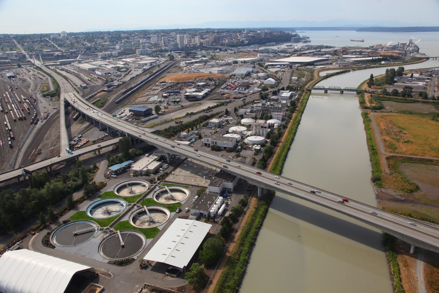Tacoma Aerial of treatment plant