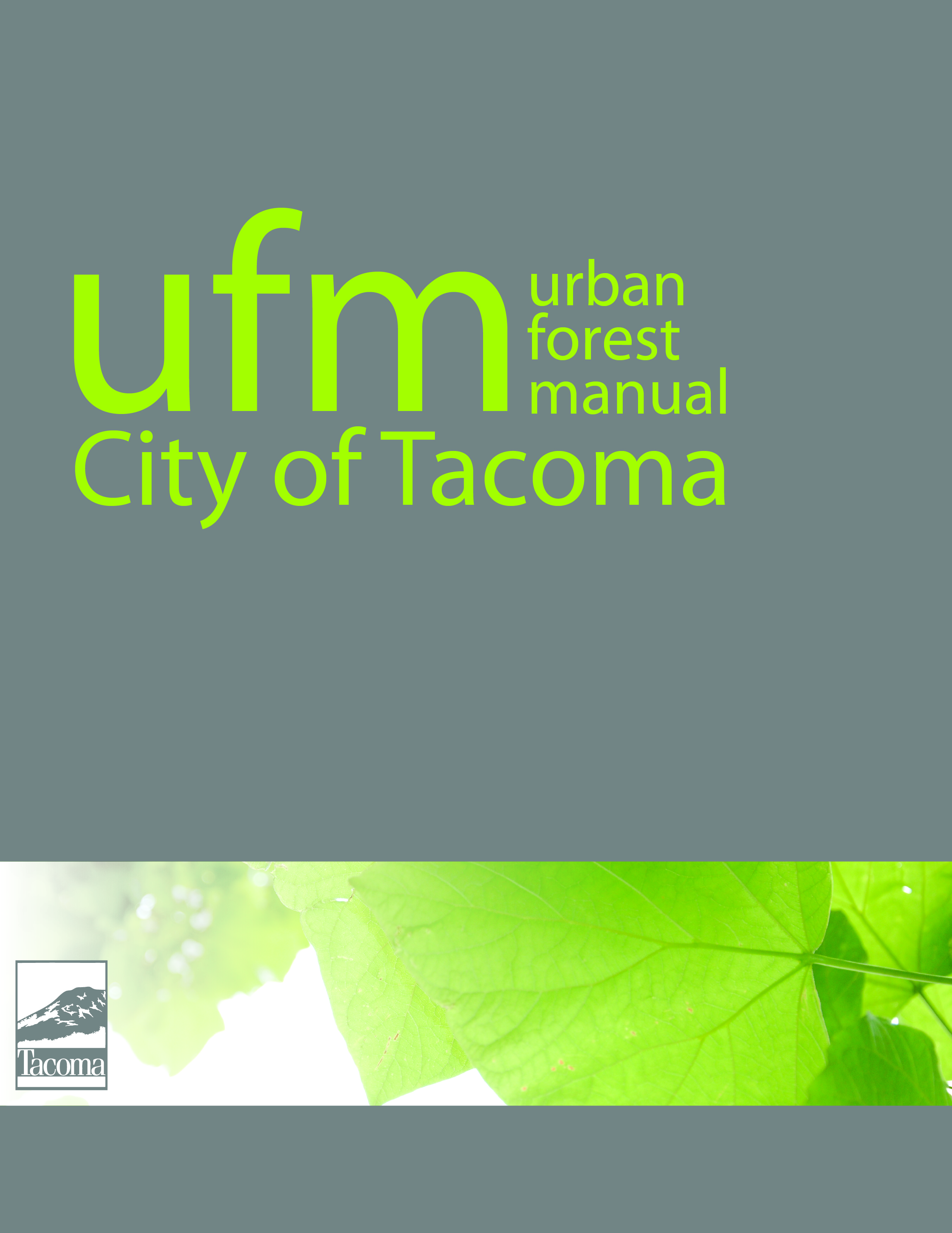 Image of Urban Forest Manual front cover