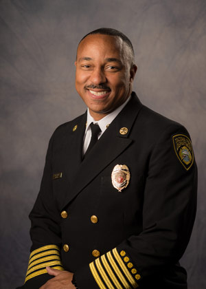 Photo of Fire Chief Tory Green